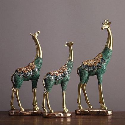 歐式長頸鹿擺飾