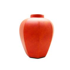 彩橘晚霞 花器