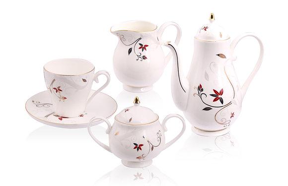 花卉圖騰茶具組