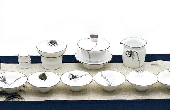 蓮藕插畫茶具組