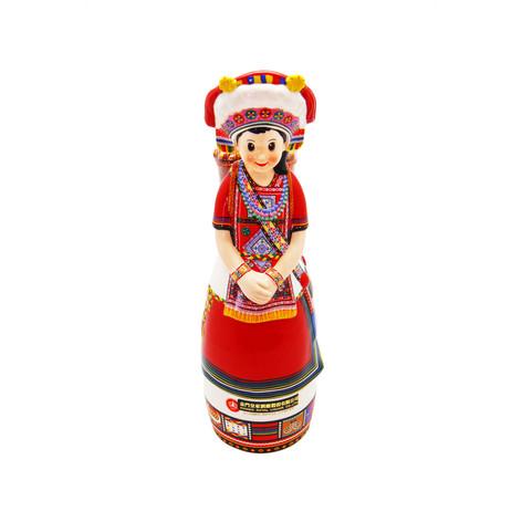 原住民造型酒瓶-阿美族