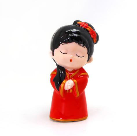 中式人偶系列(紅衣仕女)