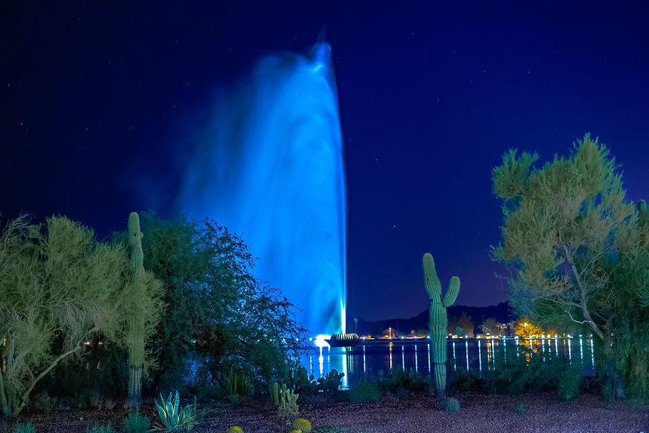 Fountain Hills, AZ has one of the talles