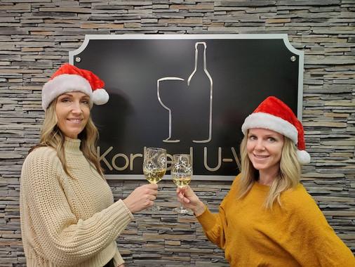 Christmas wine cheers