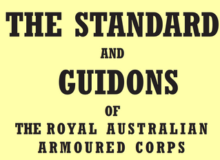 The Standard and Guidons of The Royal Australian Armoured Corps