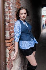 Modern Pirate Shirt, Vintage Key Vest and Lace-up Shorts