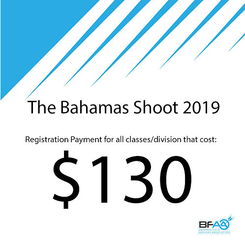 $130 Registration Product Bahamas Shoot 2019