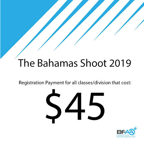 $45 Registration Product Bahamas Shoot 2019