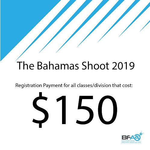 $150 Registration Product Bahamas Shoot 2019