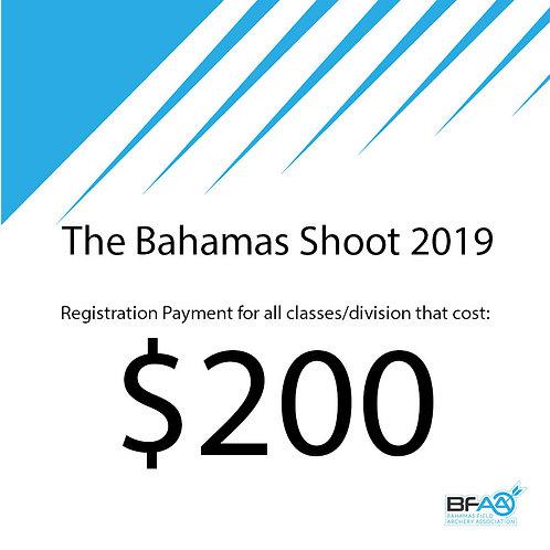 $200 Registration Product Bahamas Shoot 2019