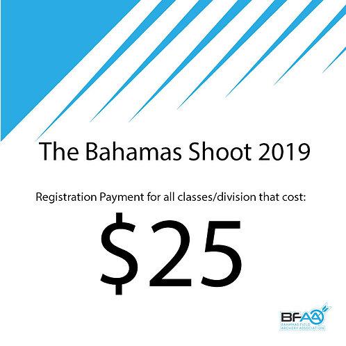 $25 Registration Product Bahamas Shoot 2019