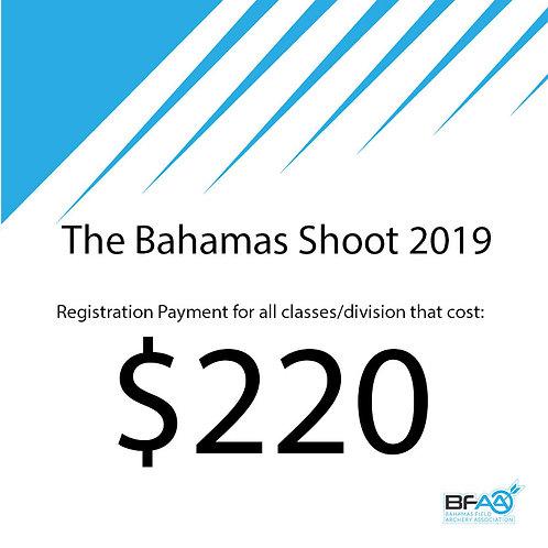 $220 Registration Product Bahamas Shoot 2019
