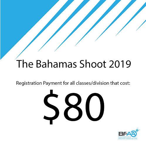 $80 Registration Product Bahamas Shoot 2019