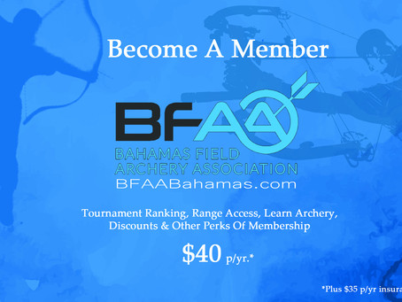 Are you a member of Bahamas Field Archery Association?