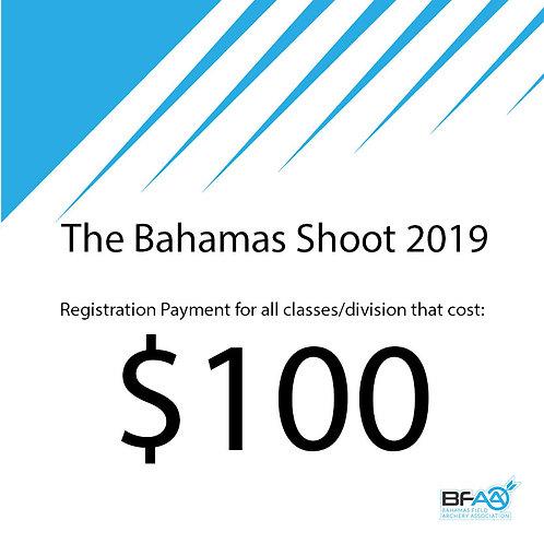 $100 Registration Product Bahamas Shoot 2019