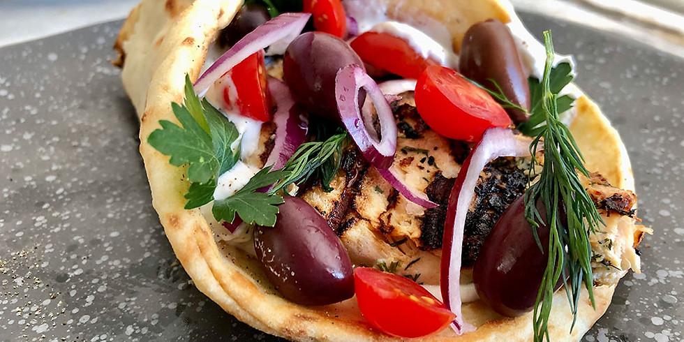 CLASS - Greek Chicken Pita Wraps