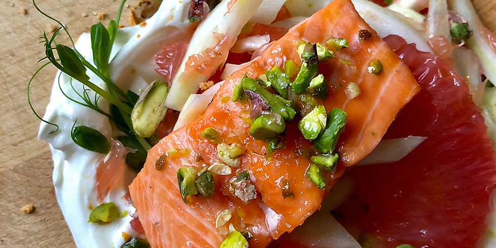 CLASS - Marmalade Glazed Salmon with Citrus Fennel Salad