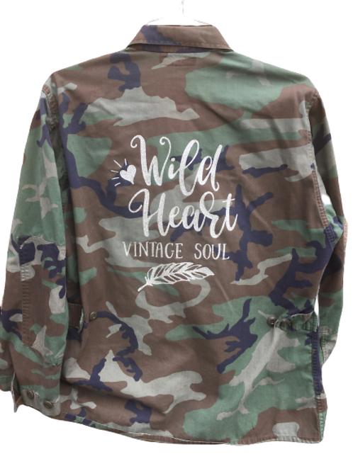 Wild Heart Vintage Soul Camo Army Jacket