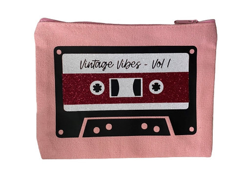 Pink Cassette Pouch