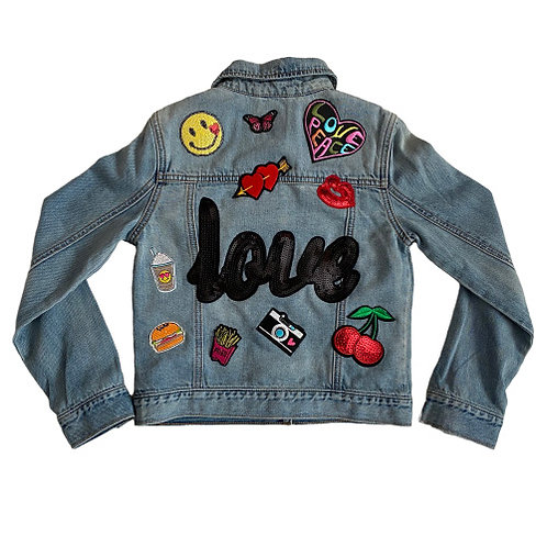 Custom Made LOVE Kids Denim Jacket