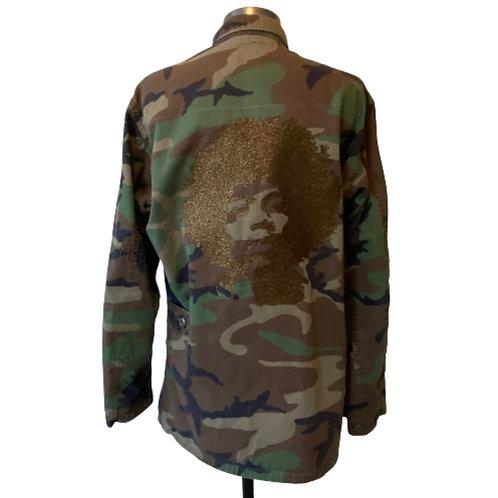 Special Edition Jimi Hendrix Bronze Glitter Camo Army Jacket