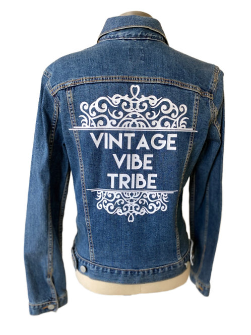Vintage Vibe Tribe Denim Jacket