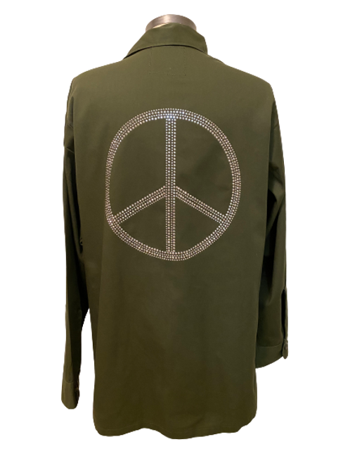 Peace Symbol Retired Army Jacket