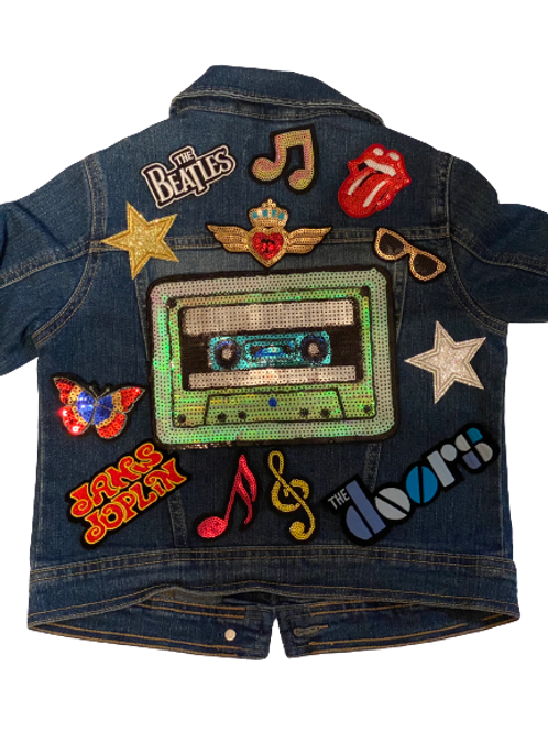 Kids Edition: Mixed Tape Denim Jacket size 7/8