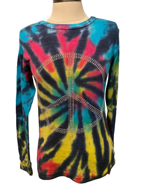 Tie Dye Peace Thermal size SMALL