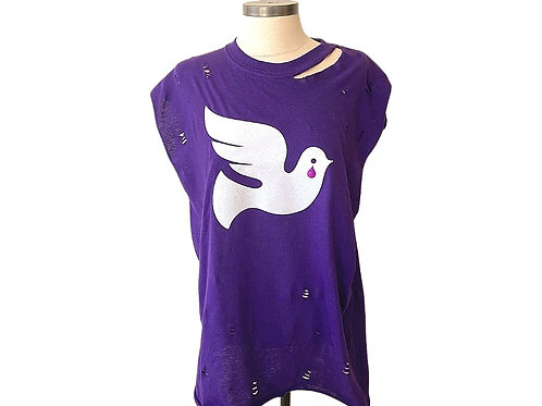 When Doves Cry Distressed Tee
