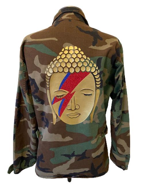 Buddha Bowie Camo Army Jacket