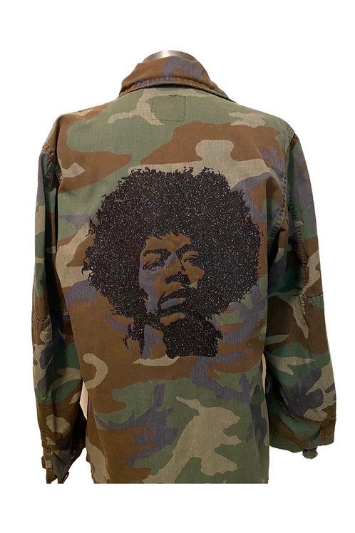 Jimi Hendrix Camo Army Jacket