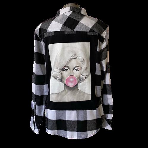 Vintage Marilyn Monroe T-Back Flannel MEDIUM