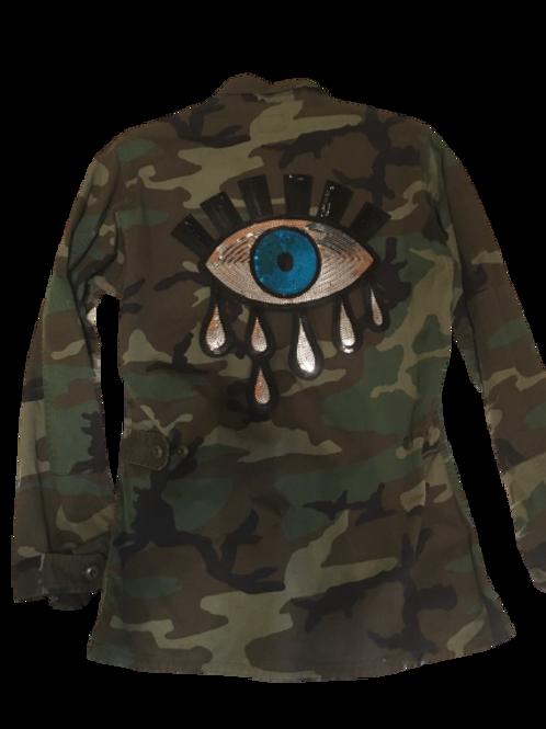 Evil Eye Camo Army Jacket