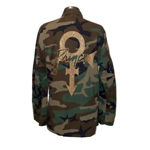 Love Symbol camo jacket