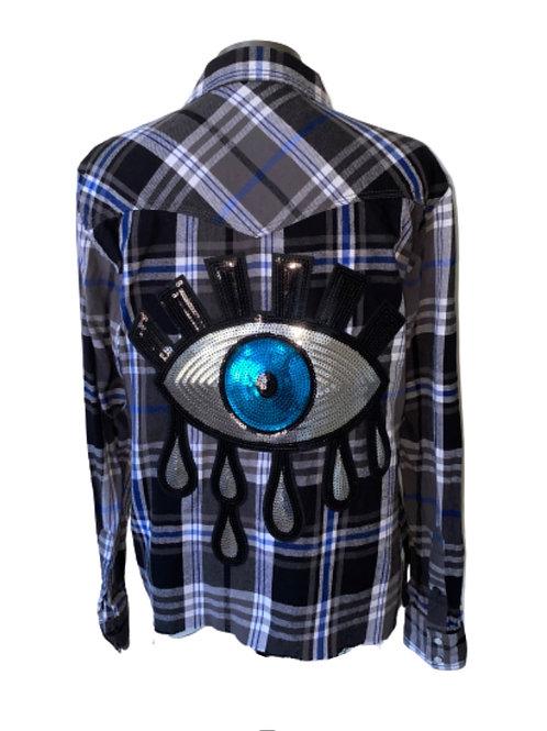 Vintage Evil Eye Vintage Flannel SMALL