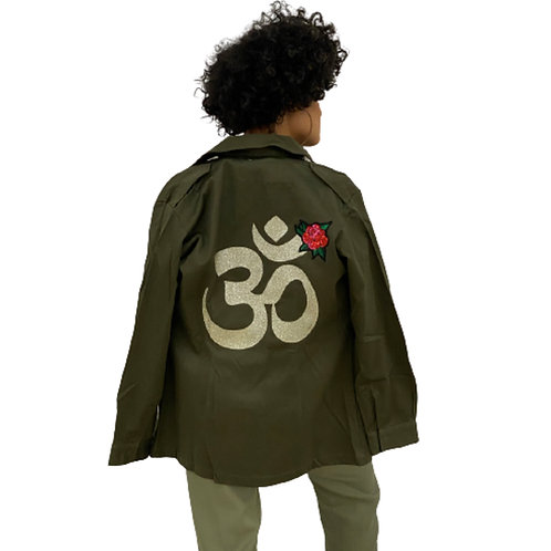 Om Symbol Foreign Military Jacket