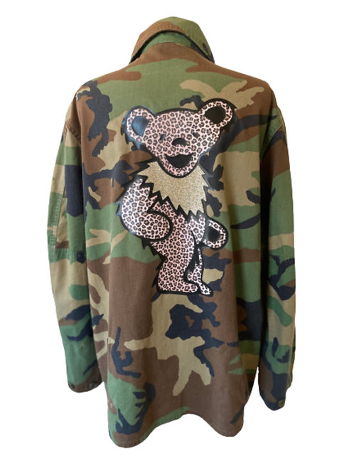 Leopard Bear Camo Army Jacket