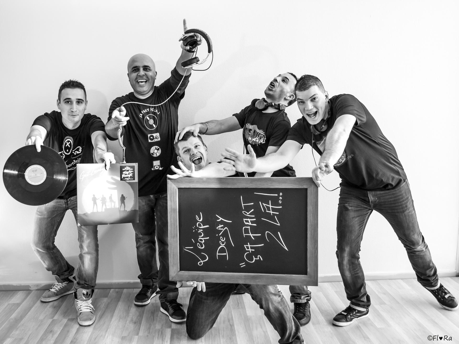 EQUIPE DJ'S (Noir & blanc)