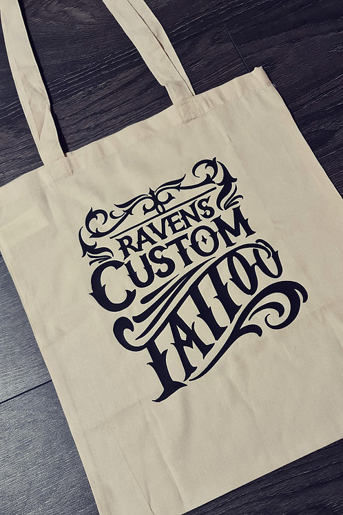 Ravens Script Tote Bag