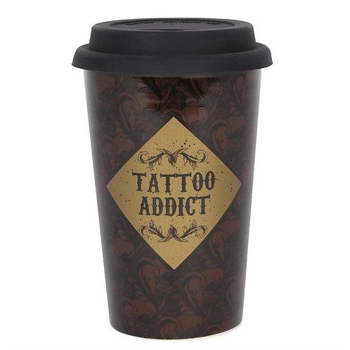 Tattoo Addict Ceramic Travel Mug
