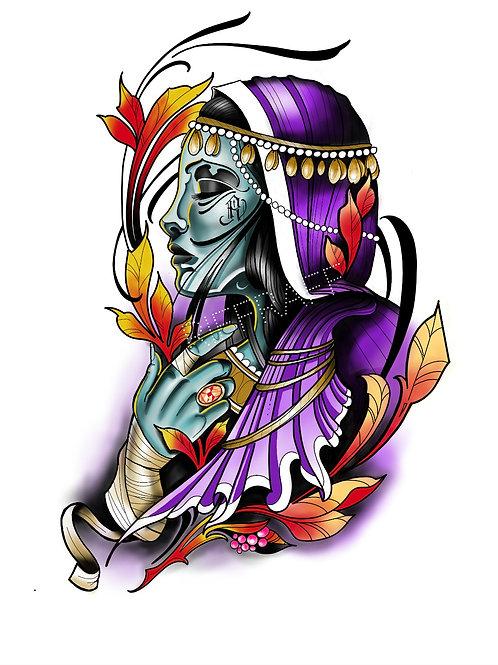 Purple Lady Neo Print - RiffRaff