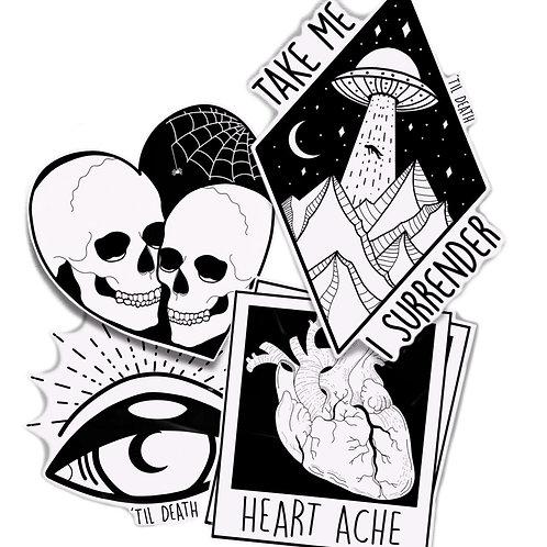 'Til Death Emo Sticker Bundle