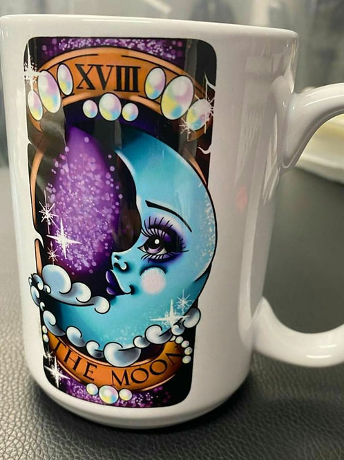 DollyDoll Tarot Ravens Mug 11 0z Dishwasher safe