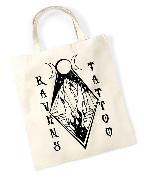 Ravens Tote Bag Wiccan Hand