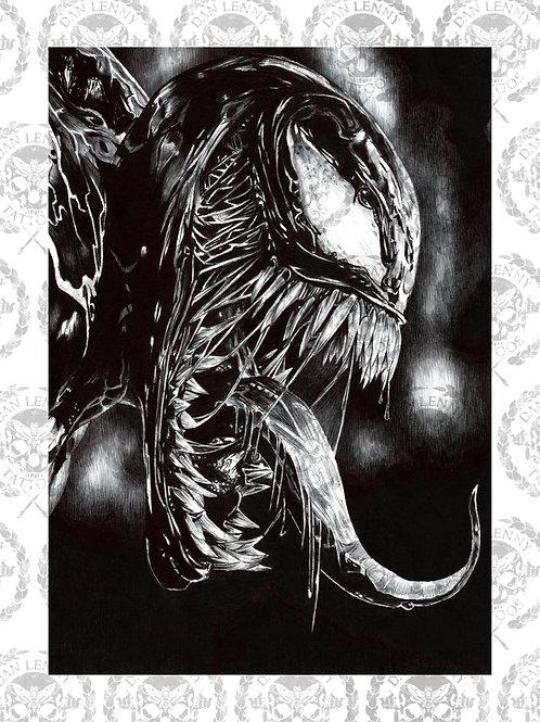 Venom Biro Print - Dan Lenny