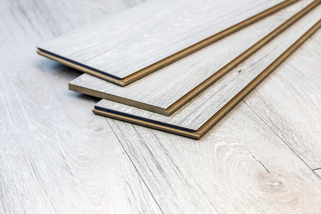 laminate planks can be laid on the floor
