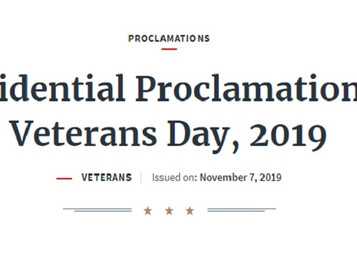 2019 Presidential Proclamation on Veterans Day