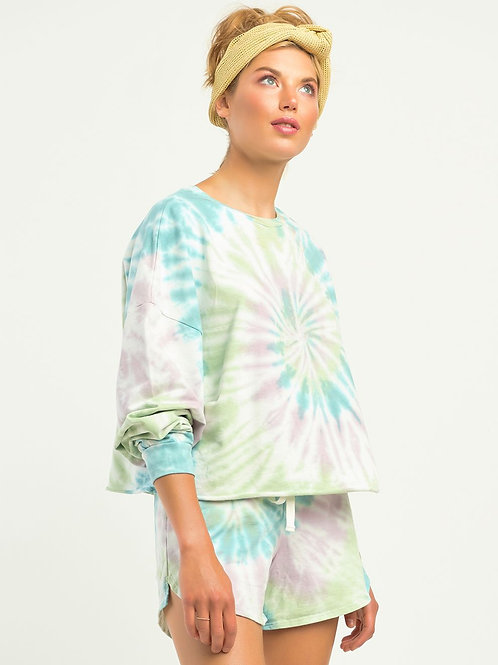 Multi-coloured Tie Dye Pullover
