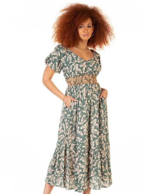 Romantic Teal Maxi Dress